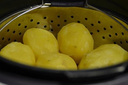 Vidéo cuisson cookeo des pommes terre entières