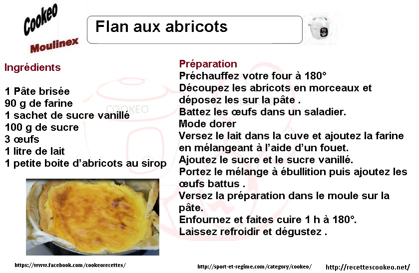 flan aux abricots cookeo