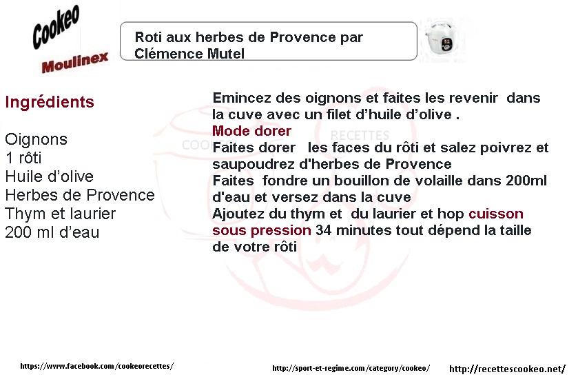 Roti aux herbes de Provence cookeo