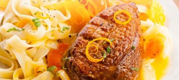 Voici une Fiche cookeo canard aux agrumes