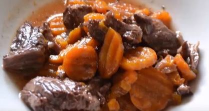 Boeuf carottes recette cookeo