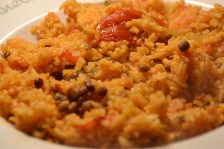 Riz lentilles tomate recette cookeo