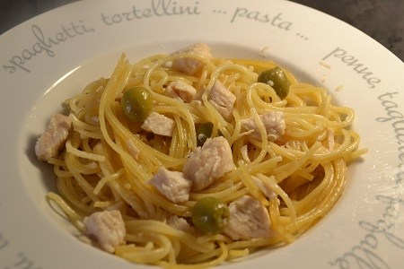 Spaghettis olive poulet recette cookeo