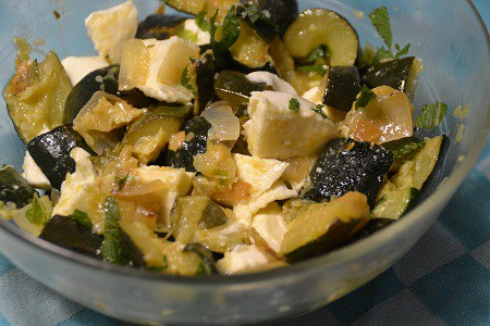 Salade courgettes feta recette cookeo weight watchers