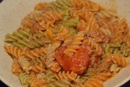Torsades épinards tomates au cookeo
