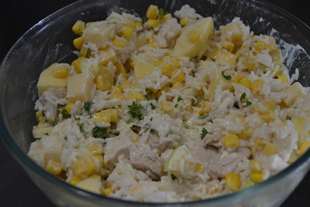 Salade composée cookeo riz poulet