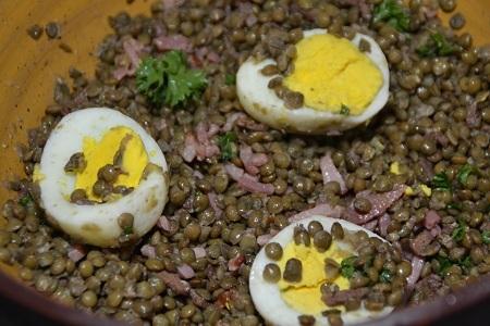 Salade lentilles oeufs cookeo