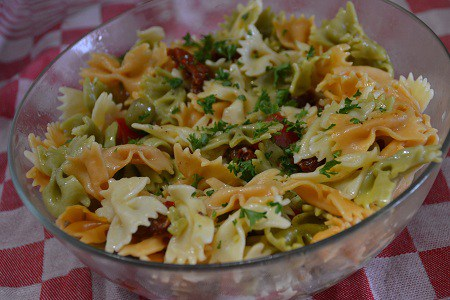 Salade farfalles 2 tomates recette cookeo