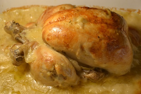 Poulet  entier sauce moutarde cookeo
