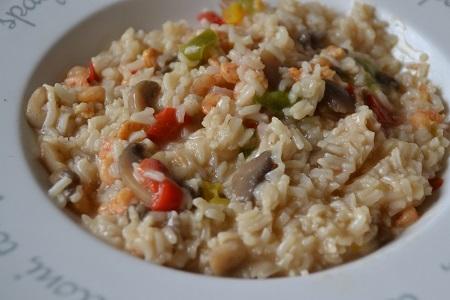 One pot Crevettes riz poivrons cookeo