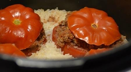 Tomates farcies riz cookeo