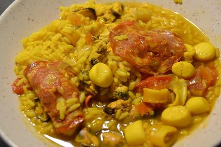Riz aux fruits de mer recette cookeo