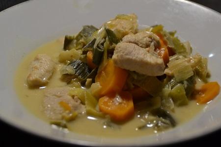 Escalopes de poulet poireaux cookeo