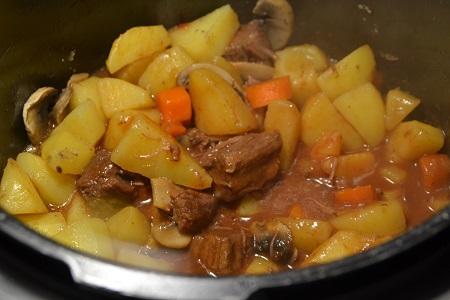 Boeuf vin rouge légumes au cookeo