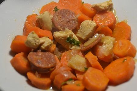 Carottes poulet chorizo cookeo