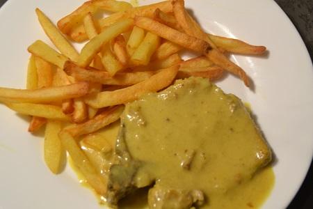 Côtes de porc sauce curry recette cookeo