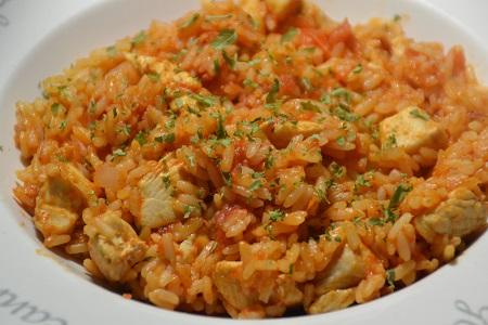 Riz poulet tomates recette cookeo